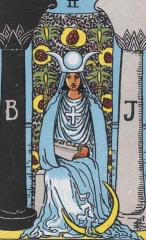 papesse, tarot, hight priestess, arcane II